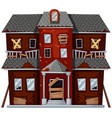 big house with bad condition vector image vector image