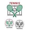 Big tennis emblems or badges vector image vector image