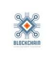 blockchain technology - logo template vector image vector image