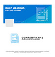 blue business logo template for component data vector image