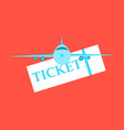 boarding pass icon image design vector image vector image