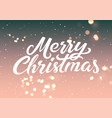 calligraphic christmas card with bokeh effect vector image