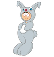 Cartoon man using a rabbit costume vector image