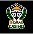 casino poker template icon royal golden vector image vector image