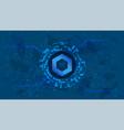 chainlink link token symbol defi project vector image vector image
