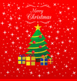 christmas greeting card a merry christmas letter vector image