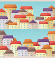 cityscape horizontal narrow banners set in flat vector image