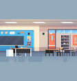 class room interior school classroom with board vector image vector image