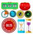 clock watches timer colorful measurement vector image vector image