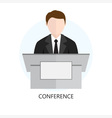 Conference Icon Flat Design Concept vector image vector image