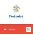 creative basket logo design flat color logo place vector image vector image