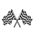 crossed pair waving checkered flags vector image vector image