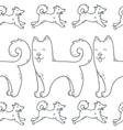 Cute cartoon doodle dog hand-drawn character vector image vector image