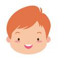 cute happy boy face vector image