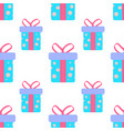 cute party presents seamless pattern vector image