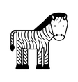 cute zebra character icon vector image vector image