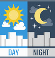 day and night in flat style vector image