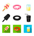 design of equipment and swimming icon vector image
