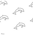 dolphin pattern seamless vector image vector image