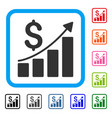 financial report framed icon vector image vector image