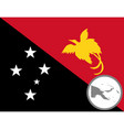 flag and map papua new guinea vector image vector image