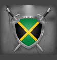 Flag of Jamaica Medieval Background vector image