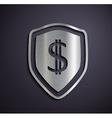 Flat metallic logo dollar vector image vector image