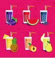 Fresh smoothies set vector image vector image