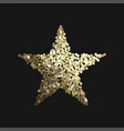 golden star isolated on black background vector image vector image