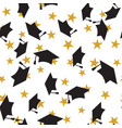 graduate hat seamless pattern vector image vector image