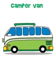 Green camper van for kids vector image