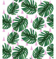 green tropical leaves pattern backgrounds vector image