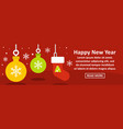 happy new year banner horizontal concept vector image vector image