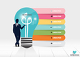 Infographic design template Businessman showing vector image vector image