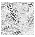 irritable bowel syndrome in children Word Cloud vector image vector image