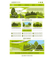 landing page landscape design company vector image vector image