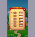leaderboard mobile game user interface gui assets vector image vector image