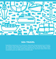 marine banner or poster template with ships in vector image