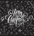 merry christmas greeting handwriting scrip vector image vector image