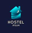 modern conceptual logo hostel vector image