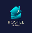modern conceptual logo of the hostel vector image vector image