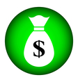 Money button vector image vector image
