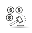 money judge gavel concept icon vector image