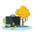 money tree and case vector image vector image