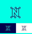 n letter monogram loops network icon on different vector image vector image