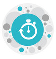 of healthy symbol on timer vector image