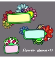 plates on background patterns of flowers vector image vector image