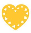 popcorn flying heart shape frame i love cinema vector image vector image