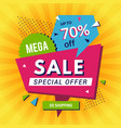 promo poster big sales discount announce shopping vector image vector image