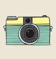 retro camera doodle hand-drawn vector image vector image